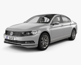 Volkswagen Passat (B8) sedan with HQ interior 2014 3D model