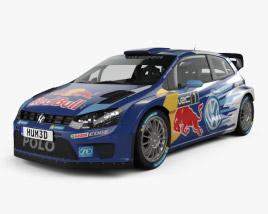 Volkswagen Polo R WRC Racecar 2015 3D model