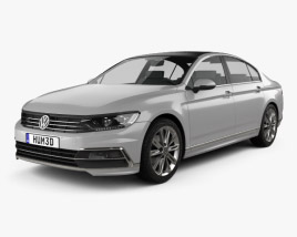Volkswagen Passat R-line (B8) sedan 2015 3D model