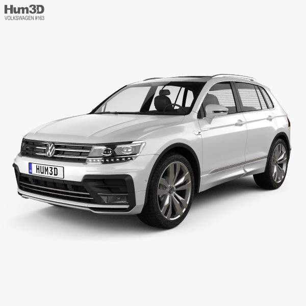 Volkswagen 2015 Tiguan: Volkswagen Tiguan R-line 2015 3D Model