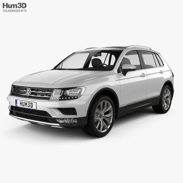 Volkswagen 2015 Tiguan: Volkswagen Tiguan Highline 2015 3D Model