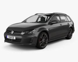 Volkswagen Golf GTD Variant 2015 3D model