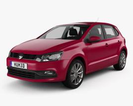 Volkswagen Polo 5-door with HQ interior 2014 3D model