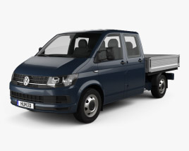 Volkswagen Transporter (T6) Double Cab Pickup 2016 3D model