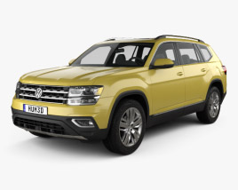 Volkswagen Atlas SEL 2018 3D model