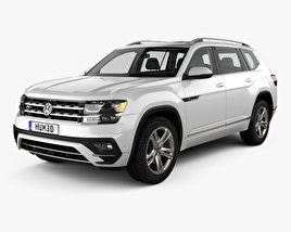 Volkswagen Atlas R Line with HQ interior 2017 3D model