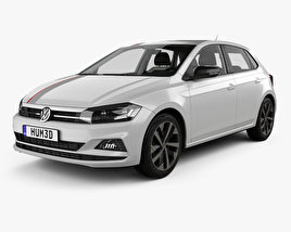 Volkswagen Polo Beats with HQ interior 2017 3D model