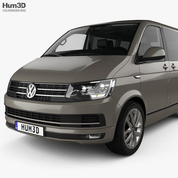 Volkswagen Transporter (T6) Multivan with HQ interior 2016 ...