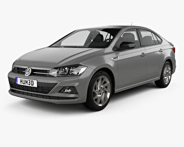 Volkswagen Virtus Highline 2018 3D model