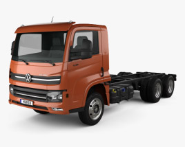 Volkswagen Delivery (13-180) Chassis Truck 3-axle 2017 3D model