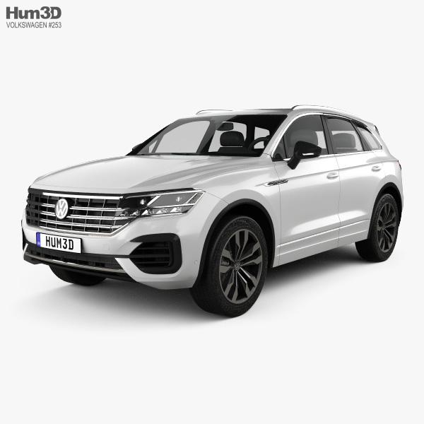 volkswagen touareg r line 2018 3d model vehicles on hum3d. Black Bedroom Furniture Sets. Home Design Ideas