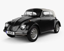Volkswagen Beetle convertible 1975 3D model