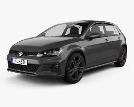Volkswagen Golf GTD 5-door 2017 3D model
