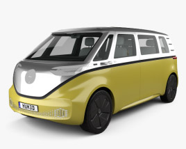 Volkswagen ID Buzz with HQ interior 2017 3D model