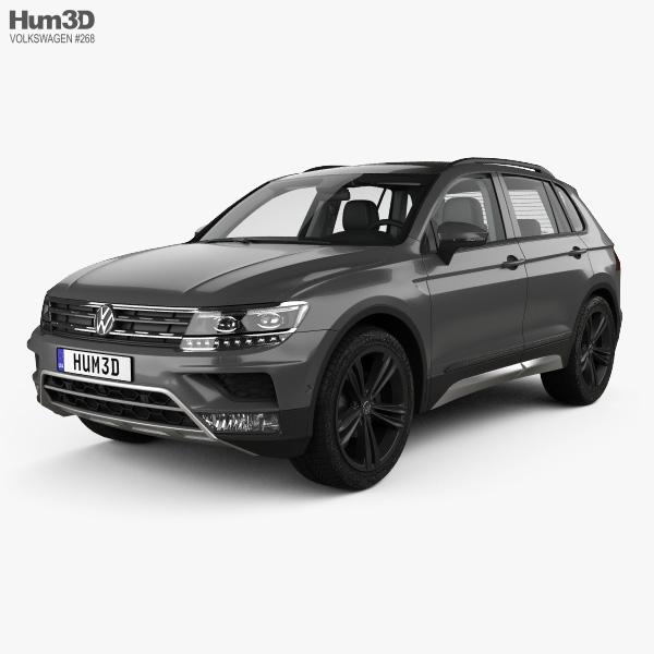 Volkswagen 2015 Tiguan: Volkswagen Tiguan Off-road With HQ Interior 2015 3D Model