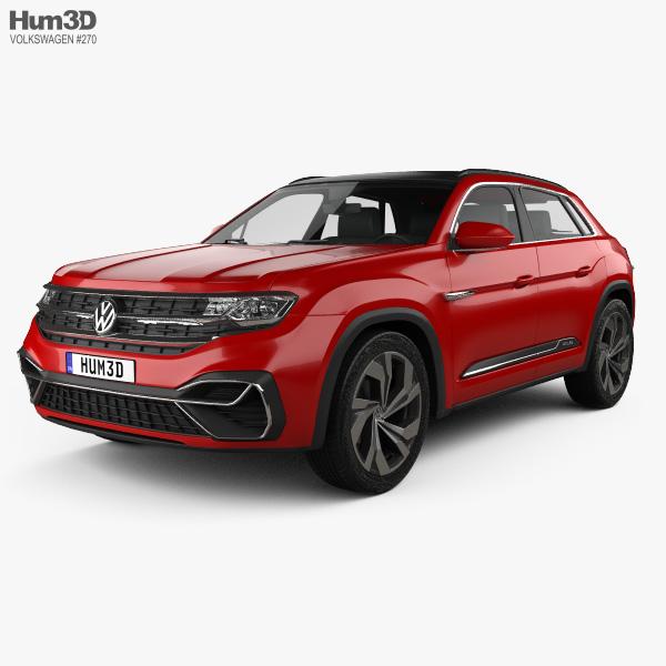volkswagen atlas cross sport 2018 3d model hum3d. Black Bedroom Furniture Sets. Home Design Ideas