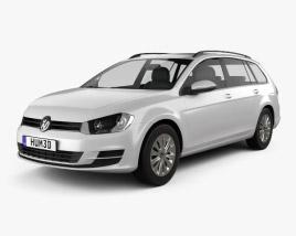 Volkswagen Golf variant Trendline 2015 3D model