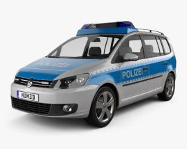 Volkswagen Touran Police Germany 2011 3D model