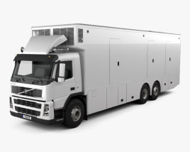 Volvo FM Outside Broadcast Truck 2010 3D model