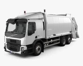 Volvo FE Rolloffcon Garbage Truck 2013 3D model