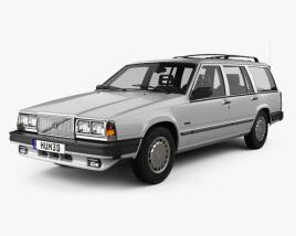 Volvo 745 kombi 1985 US 3D model