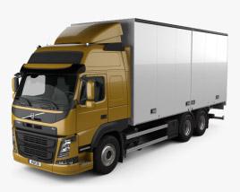 Volvo FM 370 Box Truck 2013 3D model