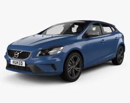 Volvo V40 T5 R-Design 2016 3D model