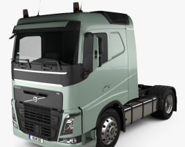 Volvo FH 420 Sleeper Cab Tractor Truck 2-axle 2012 3D model