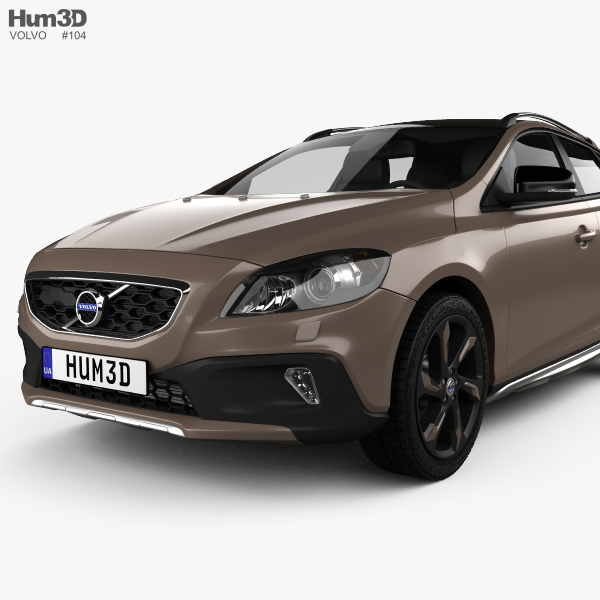 volvo v40 d3 cross country 2012 3d model hum3d. Black Bedroom Furniture Sets. Home Design Ideas