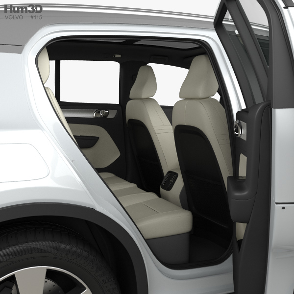 Volvo Xc40 With Hq Interior 2017 3d Model