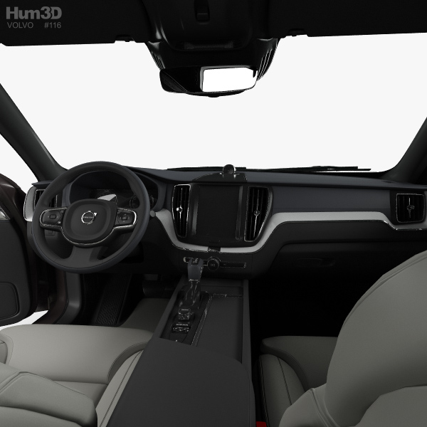 Volvo xc60 t6 inscription with hq interior 2017 3d model for Xc60 2017 interior