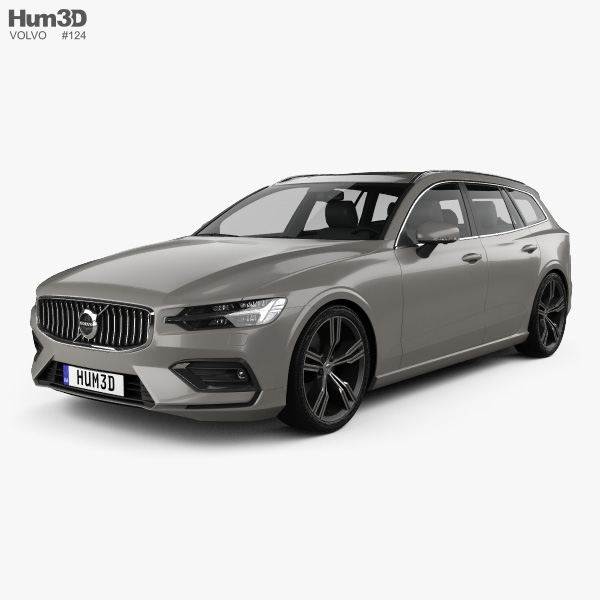Volvo V60 T6 Inscription 2018 3D model