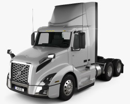 Volvo VNL Day Cab Tractor Truck 2018 3D model