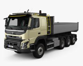 Volvo FMX Tridem Tipper Truck with HQ interior 2013 3D model