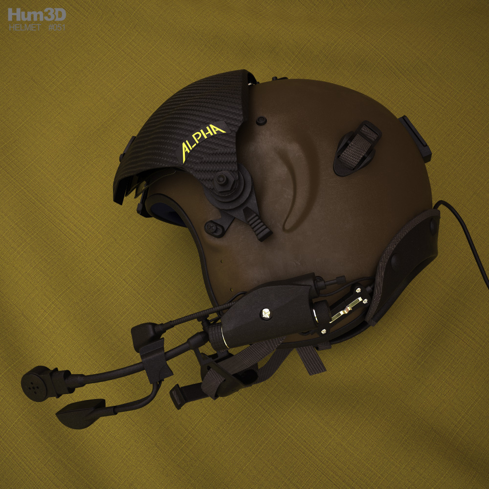 Alpha 900 Eagle Flying Helmet 3d model