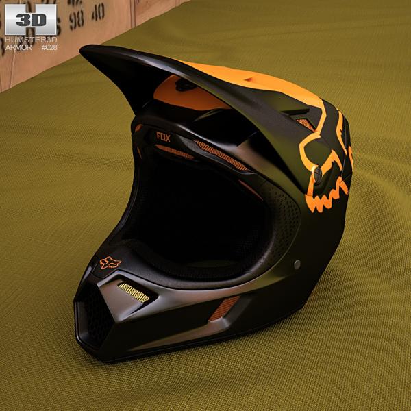 Fox V3 Helmet >> Fox V3 Moth Helmet 3d Model