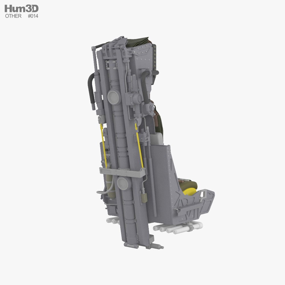 Martin-Baker Mk.10 ejection seat 3d model