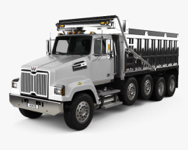 Western Star 4700 Set Forward Dump Truck 2011 3D model