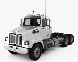 Western Star 4700 Set Forward Tractor Truck 2011 3D model