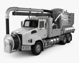 Western Star 4700 Set Back Sewer Vacuum Truck 2011 3D model