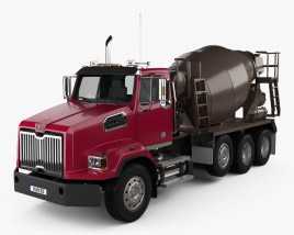 Western Star 4700 Set Back Mixer Truck 2011 3D model
