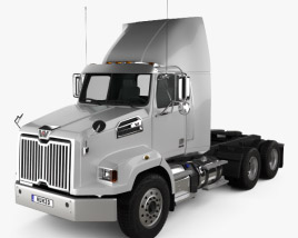 Western Star 4700 SB Day Cab Tractor Truck 2011 3D model