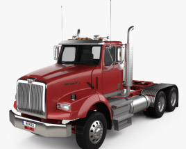Western Star 4900 SB SV Day Cab Tractor Truck 2008 3D model