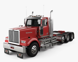 Western Star 4900 SF Day Cab Tractor Truck 2008 3D model