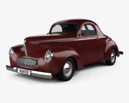 Willys Americar DeLuxe Coupe 1940 3D model