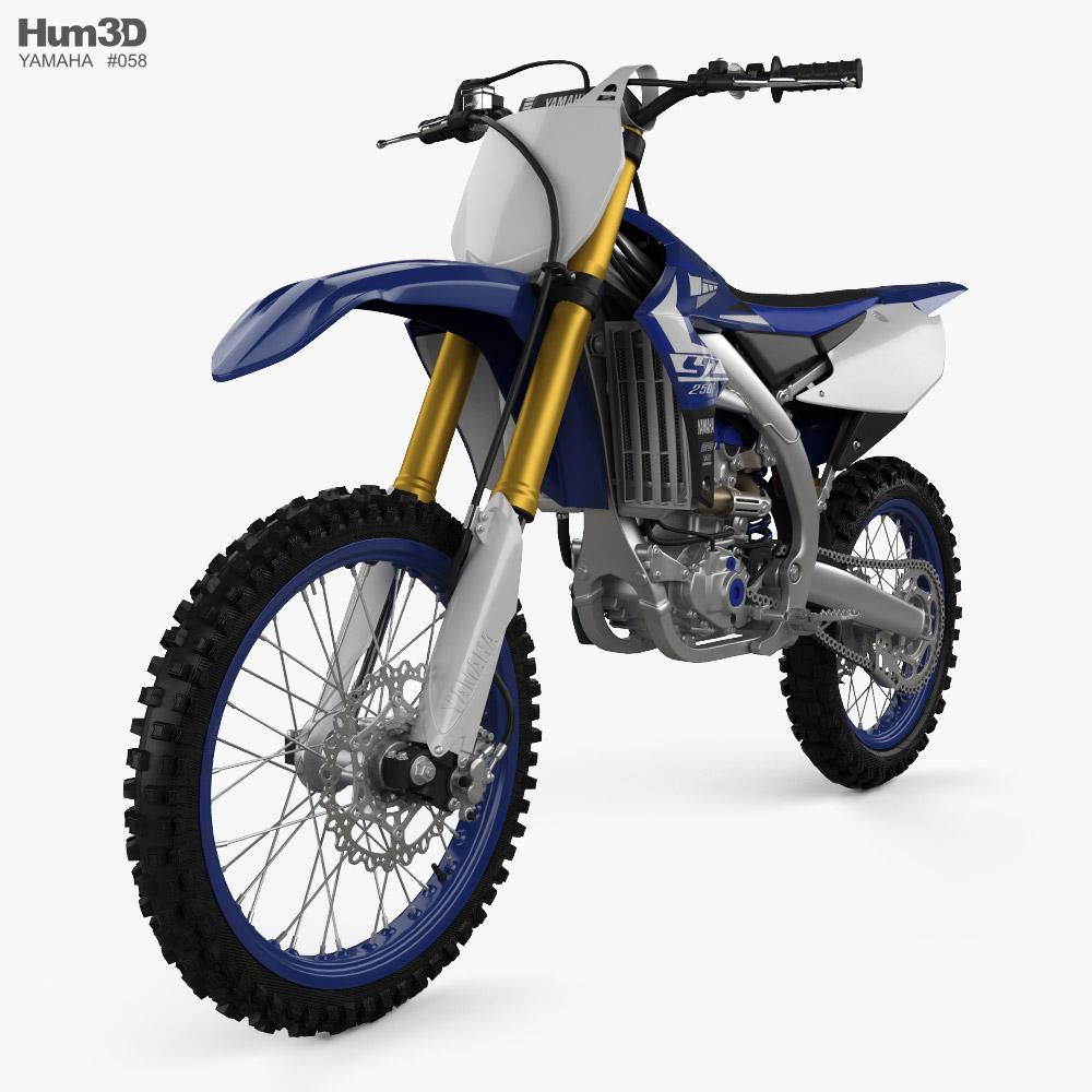 Yamaha YZ250F 2020 3d model