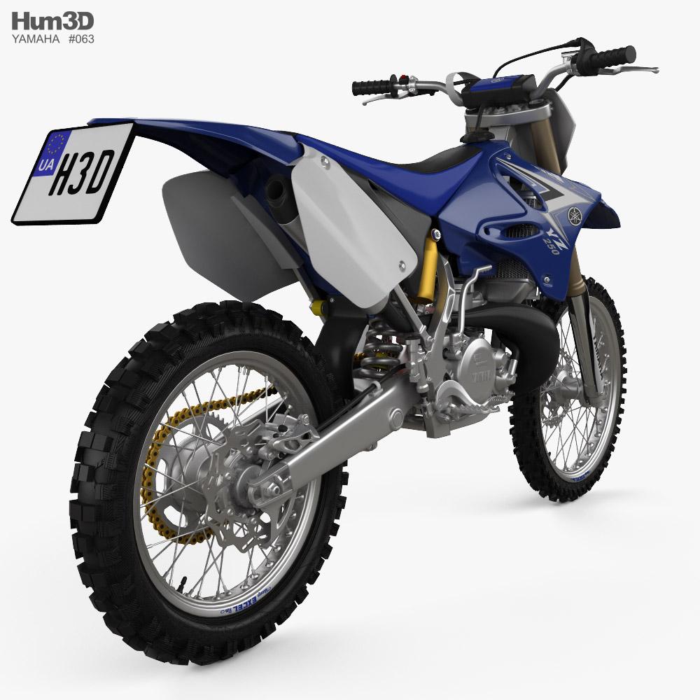 Yamaha YZ250 2008 3d model