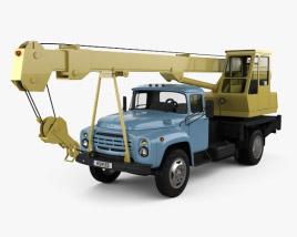 ZIL 130 Crane Truck 1964 3D model